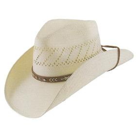 Sombrero De Paja Stetson Santa Fe Natural Tamaño Medio 22. 9cfc14db42c