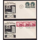 Sobres Onu 1951 Laesperanza Mundial Por La Paz Duradera
