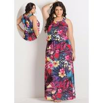 Vestido Longo Tropical | Grandes Tamanhos | Plus Size | R128