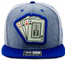 Bone Young Money Snapback Cartas Poker Azul Original Barato