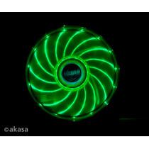 Cooler Fan De Gabinete 120mm Akasa Ak-fn091-gn Vegas Verde