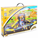 Funslane City Construction Parking Garage Playset With 3 Veh