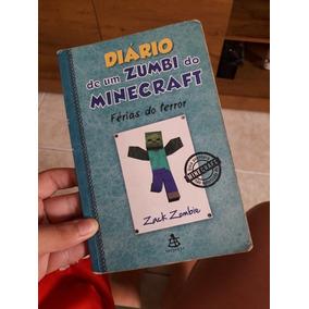 Livro Diario De Um Zumbí Do Minecraft Férias Do Terro