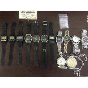 Coleção11 Relógios Casio Game Watch Windsurf Data Bank