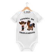 Body De Bebês Cowboy Em Treinamento Bruto C3425
