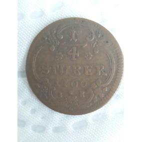 Moeda Germânica 1/4 Stuber 1766 - Bom Estado (frete Grátis!)