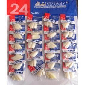 576 Unhas Postiças - Cartelão C/24 Pacotinhos Com 24 Unhas