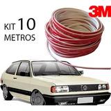 Kit Friso Filete Branco Parachoque Gol G1 Quadrado 10 Metros