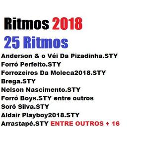 Ritmos 2018 P/ Yamaha E433, E463 E423, E413, E343, E333