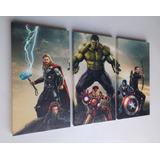 Cuadros Trípticos Avengers Los Vengadores