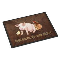 Bienvenido A La Granja Con El Cerdo Y Pollo Mat Interiores O