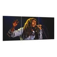 Cuadro Triptico Bob Marley 90x40cm