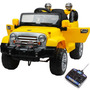 Mini Jipe 2x1 Veículo Elétrico Trilha Amarelo Bel Fix 927600