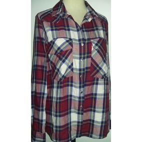 Camisa Escocesa Zara Importada - M