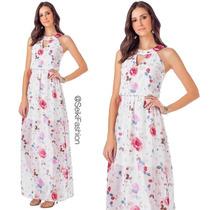 Vestido Feminino Longo Estampa Floral Seiki 380264