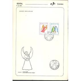 Edital Correios N.24 1989 Serie Natal 89