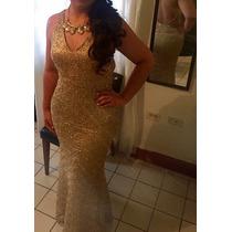 Vestido De Gala Dorado