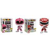 Funko 2 Pop Metallic Pink Red Ranger Power Rangers Hot Topic