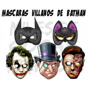 50 Mascaras Antifaces Villanos De Batman 2 Caras Gatubela