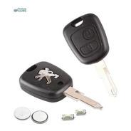 Kit Capas Chave Peugeot 206 207 C/ Bateria E Botões