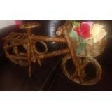 Bicicleta De Madeira Grande Rústica Decoração