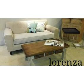 Sillón Sofá Lorenza 2 Dos Cuerpos Pana Premium Garantía