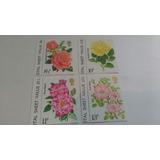 Lote Estampillas Inglaterra Flores Con Complementos 100 Uss
