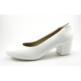 Zapato Negro Y Blanco Taco Separado Cuadrado Bajo
