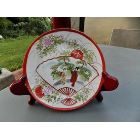 Prato Japonês Kutani ¿ Pintado À Mão