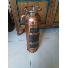Mata Fuego Extintor Cobre Bronce Underwriters Antiguo Compl