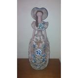 Muñeca De Ceramica Dama Antañona