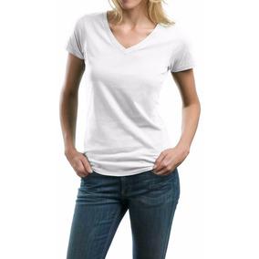 Camiseta No Atacado Algodão Lisa Kit 10 Peças Gola V