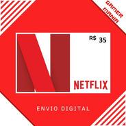Cartão Pré-pago Presente Netflix R$ 35 Reais Br Gift Card