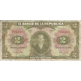 Colombia 2 Pesos Oro 1 Enero De 1955 - 7 Dígitos