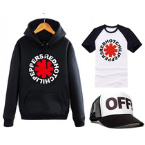 Combo Red Hot Chilli Peppers Buzo Canguro+ Remera+ Gorra Off