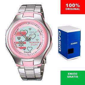 Reloj Dama Casio Poptone Lcf10 Metal - Wr 50m - Cfmx
