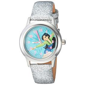 Reloj Casual De Acero Inoxidable De Cuarzo Mulan De Disney
