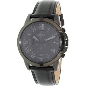 56a6e4e4e622 Reloj Fossil Negro Cuero - Joyas y Relojes en Mercado Libre México