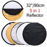 Reflector Rebotador Fotografía Circular 5 En 1 80 Cm