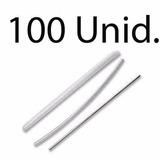 100 Peças Protetor De Emenda Fibra Óptica Tubete 45mm X3,5mm