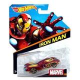 Brinquedo Hot Wheels Carros Marvel, 1 Peca - Homem De Ferro