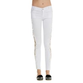 Moda Sexy De Encaje De Costura Delgado Pantalones Mujer Pant