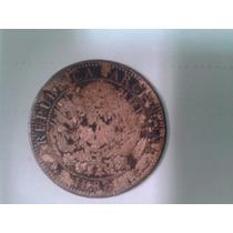 2 Centavos De Patacon Cobre Año 1882