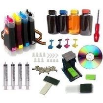 Bulk Ink Hp D110 1510 2516 3516 C4480 Completo + 400ml Tinta