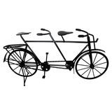 Bicicleta Mini Ferro Vintage Retro 2 Pedal Mesa Preto 42cm