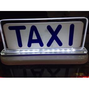 Luminoso Táxi Imantado Médio Azul Acrílico Cristal Luz Led