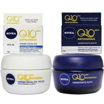 Nivea Q10 Plus Antissinais-cr Fac Dia 53 Gr+cr Noite 50 Gr