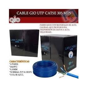 Rollo 305 Mts Cable Utp Cat5e Red Internet Cctv Gio Equiprog