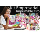 Kit Imprimible Empresarial Oro 2018 Mega Gigante +200 Kits