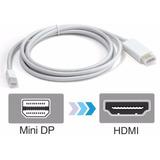 Cable De Mini Display Port Macho A Hdmi Macho 2mts